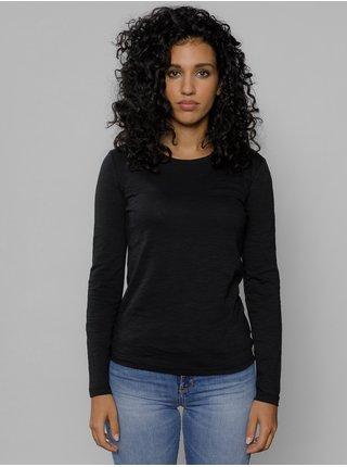 Černé dámské tričko s potiskem na zádech Devergo