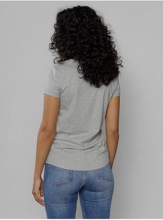 Šedé dámské tričko s potiskem Devergo