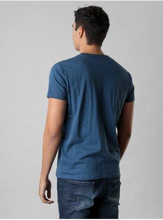 Modré pánské tričko s potiskem Devergo