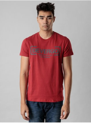 Červené pánské tričko s potiskem Devergo