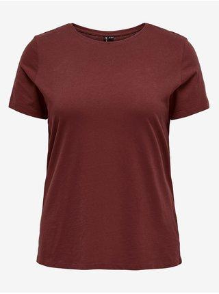 Topy a tričká pre ženy ONLY CARMAKOMA - vínová