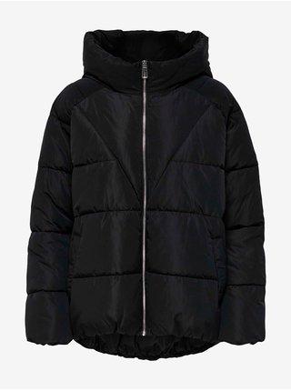 Černá dámská prošívaná zimní bunda s kapucí ONLY Alina
