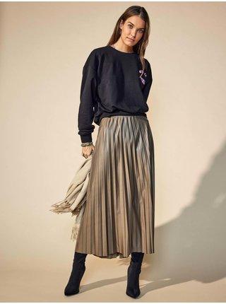 Khaki dámská dlouhá plisovaná sukně ONLY Anina