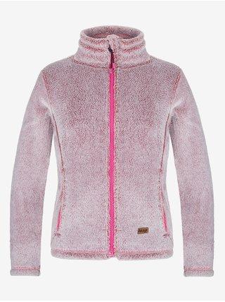 Světle růžová holčičí funkční fleecová mikina LOAP Chasca