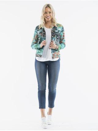 Světle modrá dámská vzorovaná bunda Orientique Jacket