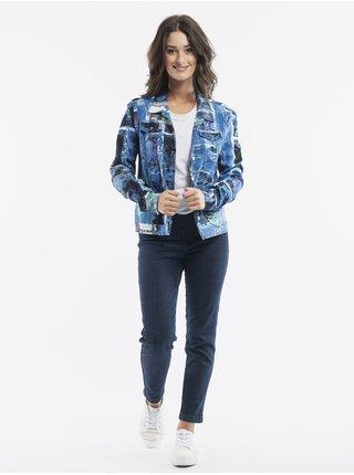 Modrá dámská vzorovaná bunda Orientique Jacket