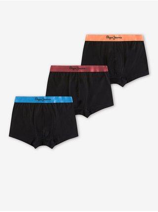 Sada tří pánských boxerek v černé barvě Pepe Jeans Elrod