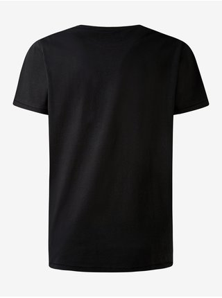 Černé pánské tričko s potiskem Pepe Jeans Toby