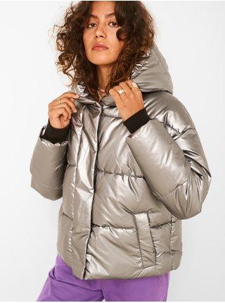 Prošívaná bunda ve stříbrné barvě Noisy May Maxima