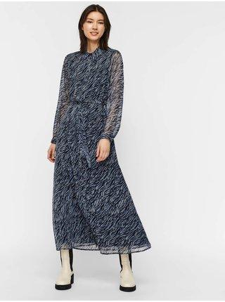 Šaty do práce pre ženy AWARE by VERO MODA - modrá, čierna