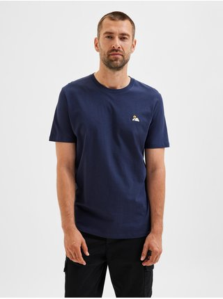 Tmavomodré pánske tričko Selected Homme Bosco