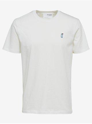 Bílé pánské tričko Selected Homme Bosco