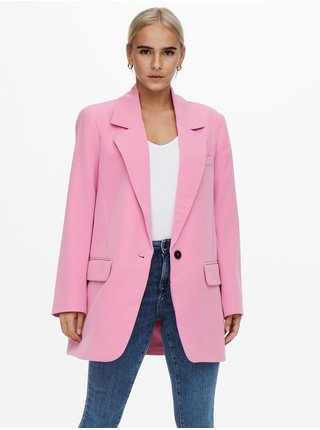 Růžové dámské oversize sako ONLY Lana-Berry