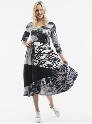 Móda pre plnoštíhle pre ženy Orientique - čierna, biela