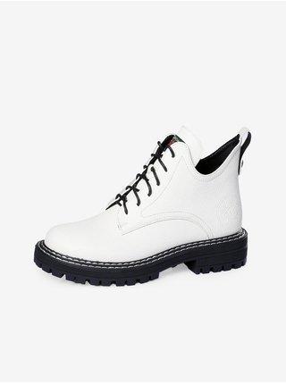 Bílé dámské kotníkové boty Lee Cooper