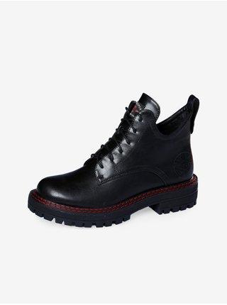 Černé dámské kotníkové boty Lee Cooper
