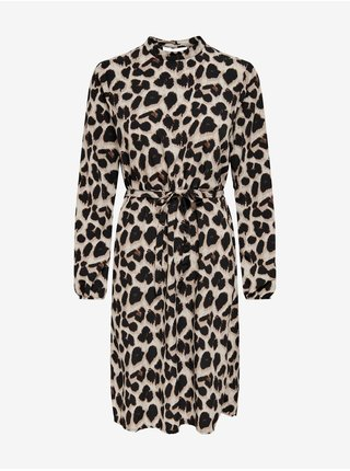 Voľnočasové šaty pre ženy Jacqueline de Yong - béžová, čierna