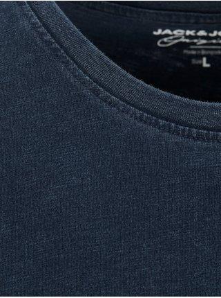 Tričká s krátkym rukávom pre mužov Jack & Jones - tmavomodrá