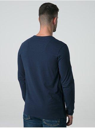 Tmavě modré pánské triko s potiskem LOAP Alarm