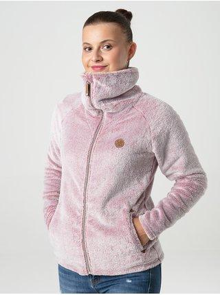 Svetloružová dámska funkčná fleecová mikina LOAP Chada