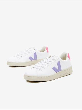 Růžovo-fialovo-bílé dámské boty Veja