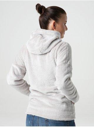 Svetlošedá dámska funkčná fleecová mikina LOAP Chajty