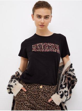 Čierne dámske tričko s potlačou Liu Jo