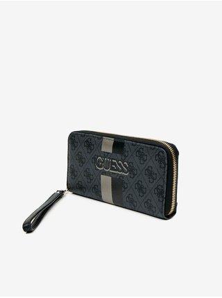 Šedo-čierna dámska peňaženka Guess