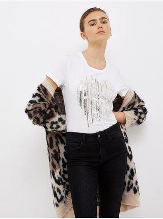 Biele dámske vzorované tričko Liu Jo