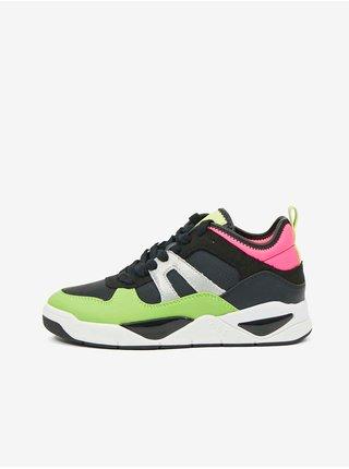 Ružovo-čierno-zelené dámske topánky Guess