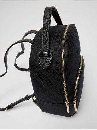 Černý dámský vzorovaný malý batoh Liu Jo