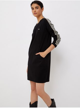 Bielo-čierne dámske svetrové šaty Liu Jo