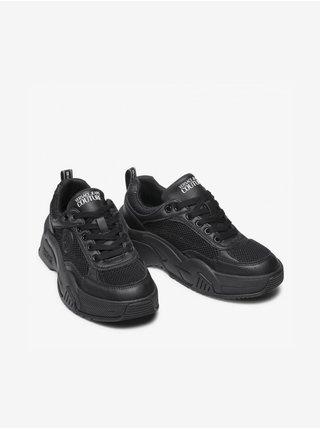 Čierne dámske kožené tenisky Versace Jeans Couture Fondo Stargaze