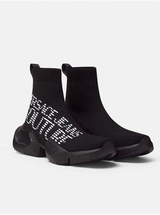 Černé dámské kotníkové plátěné tenisky s nápisem Versace Jeans Couture Fondo Gravity