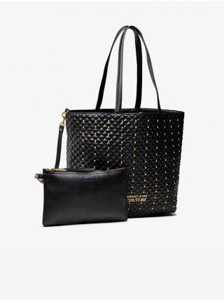 Černý dámský vzorovaný shopper Versace Jeans Couture Quilting