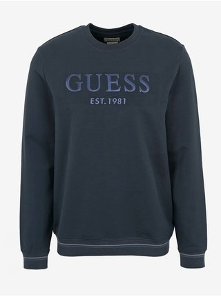 Tmavě modrá pánská mikina Guess