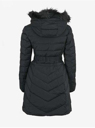 Čierny dámsky prešívaný kabát Guess