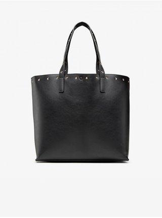 Černý dámský shopper s ozdobnými detaily Versace Jeans Couture Studs Revolution