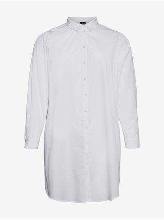 Bílá dlouhá košile VERO MODA CURVE Ewa