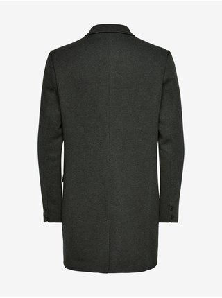 Tmavě zelený kabát ONLY & SONS Julian