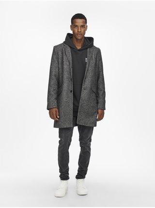 Tmavě šedý kabát ONLY & SONS Julian