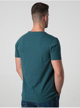 Petrolejové pánské triko s potiskem LOAP Alf