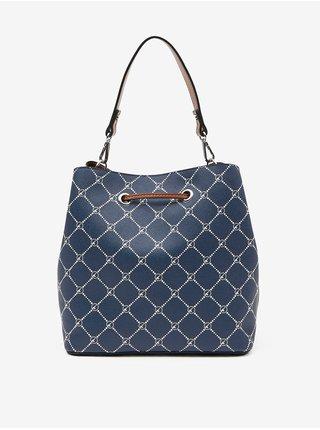 Tmavě modrá kostkovaná kabelka Tamaris