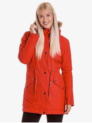 Červená dámská zimní parka Meatfly