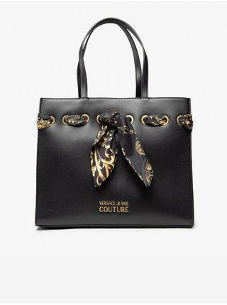 Černá dámská velká kabelka s ozdobnými detaily Versace Jeans Couture Thelma