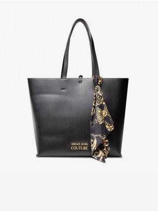 Černý dámský shopper Versace s ozdobnými detaily Jeans Couture Thelma