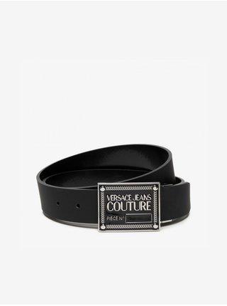 Čierny pánsky kožený opasok Versace Jeans Couture Cintura