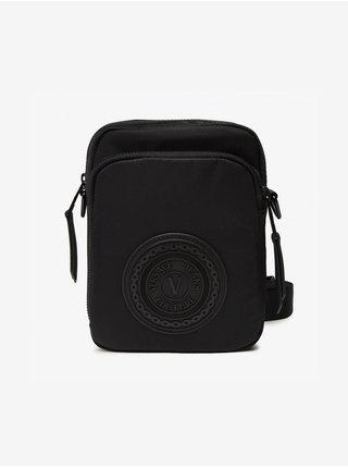 Čierna pánska malá crossbody taška Versace Jeans Couture V-emblem