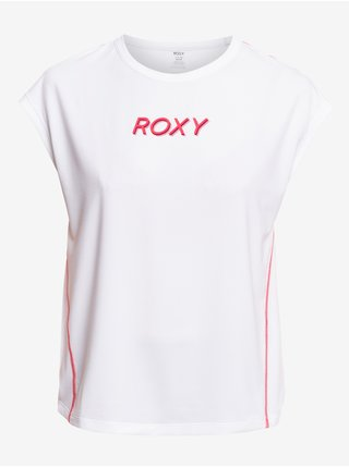 Bílé dámské tričko s nápisem Roxy Training Grl