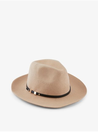 Béžový vlněný klobouk Pieces Flasa